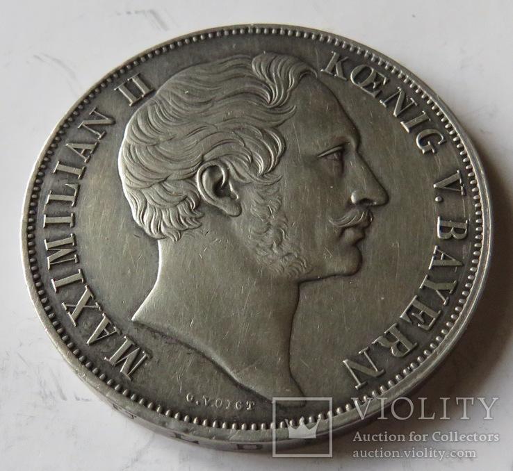 2 гульдена 1855 года,Баварское королевство, фото №2