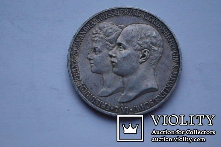 5 марок 1904 р. Мекленбург-Шверін., фото №2