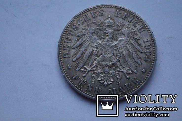 5 марок 1904 р. Мекленбург-Шверін., фото №4