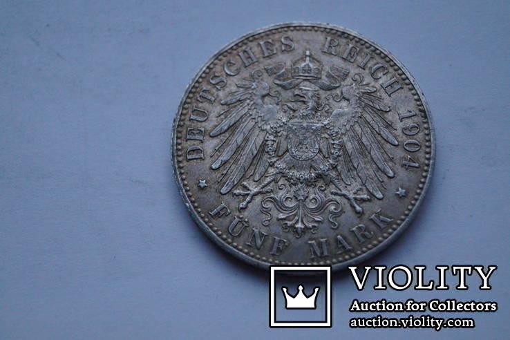 5 марок 1904 р. Мекленбург-Шверін., фото №8