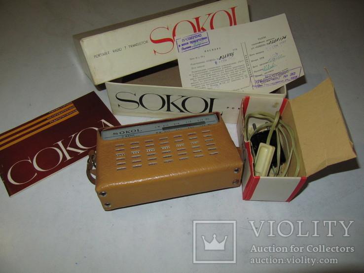 Радиоприёмник Сокол 1966 год в упаковке с паспортом (на экспорт)., фото №2
