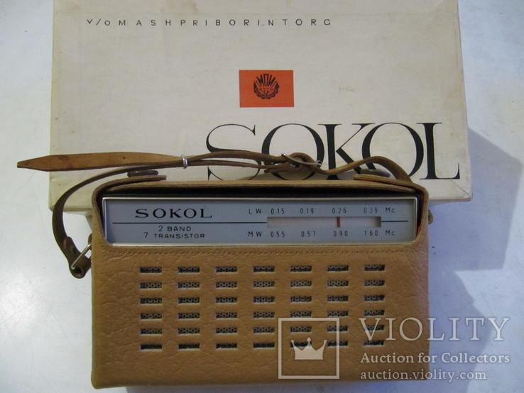 Радиоприёмник Сокол 1966 год в упаковке с паспортом (на экспорт)., фото №4