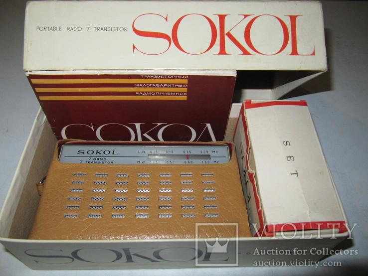 Радиоприёмник Сокол 1966 год в упаковке с паспортом (на экспорт)., фото №9