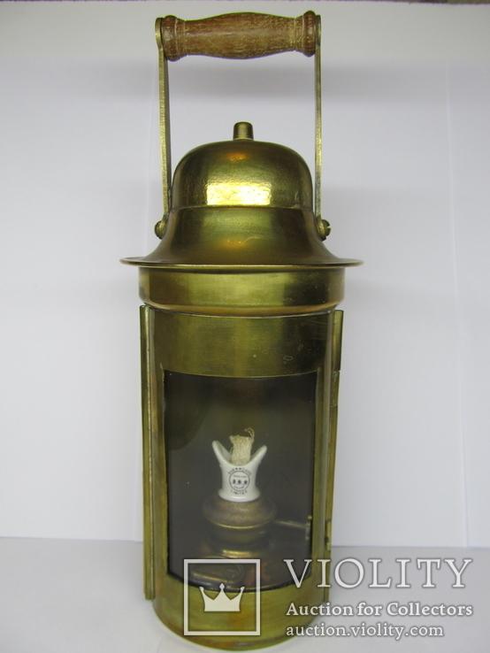 Латунный корабельный фонарь. Англия. 20 гг.