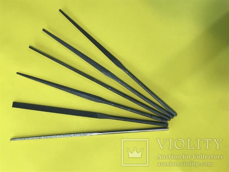 Надфиль, набор надфилей 6 шт. производства СССР, фото №2