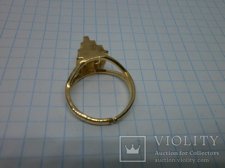 Кольцо с выступающим элементом. Разжимное, фото №6