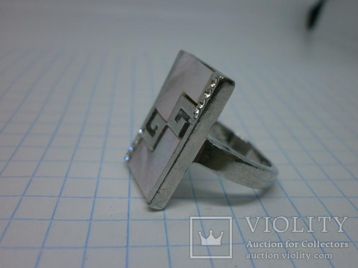 Кольцо со вставками под перламутр, фото №5