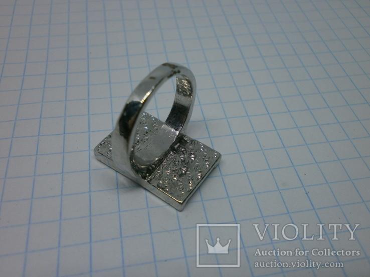 Кольцо со вставками под перламутр, фото №6