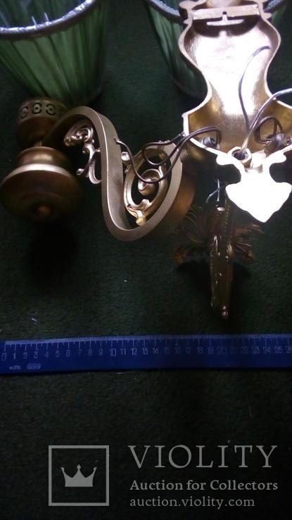 Бра на три лампы с абажурами, фото №5