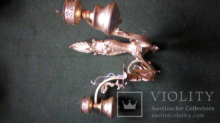 Бра на три лампы с абажурами, фото №12