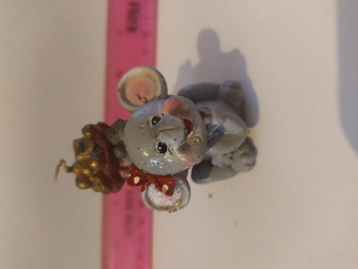 Мышка свечка 7см №4, фото №3