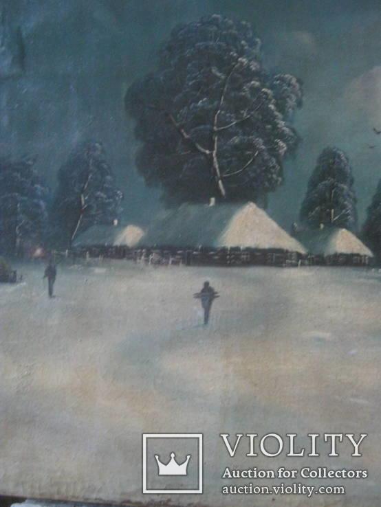 """Зима"" х.м.,48х80 см, фото №6"
