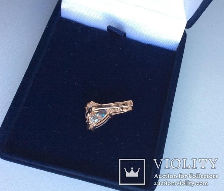 Набор: серьги, кольцо (17р); 585, трезубец. 9,5 г., фото №13