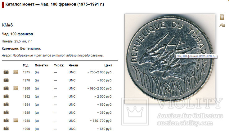 Чад 100 франков 1982 год., фото №5