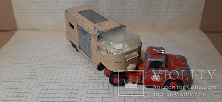 Машинка Matchbox king size K18 dodge tractor+Articulated Horse VAN .made in England, фото №4
