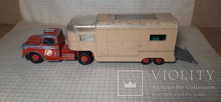 Машинка Matchbox king size K18 dodge tractor+Articulated Horse VAN .made in England, фото №9