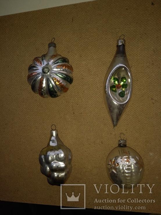 4шт. ёлочные игрушки СССР, фото №2