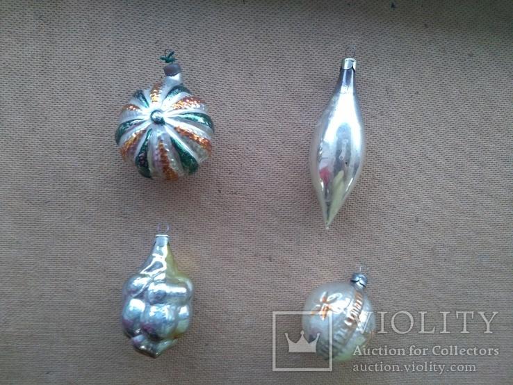 4шт. ёлочные игрушки СССР, фото №4