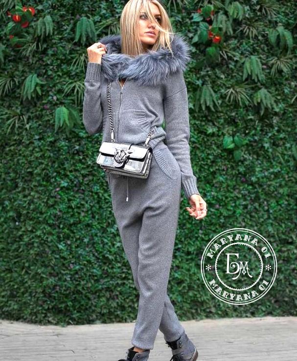 Кашемировый костюм серый размер S/M, фото №4