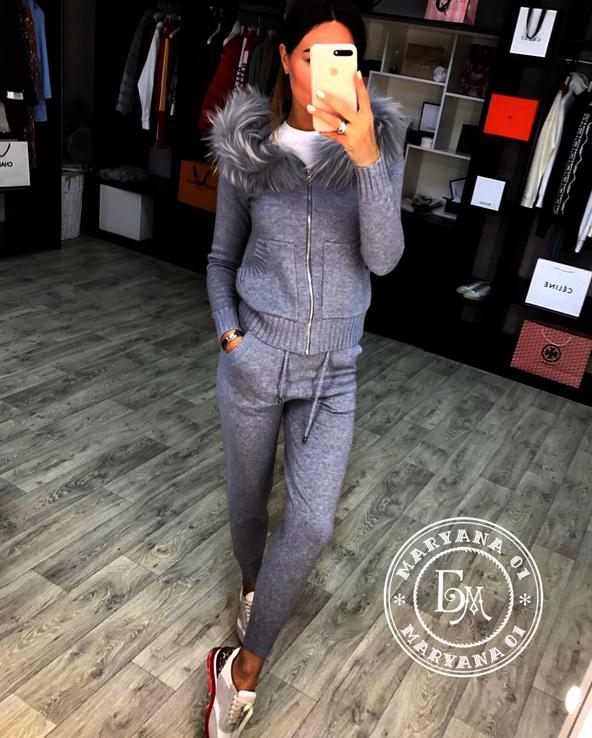 Кашемировый костюм серый размер S/M, фото №7