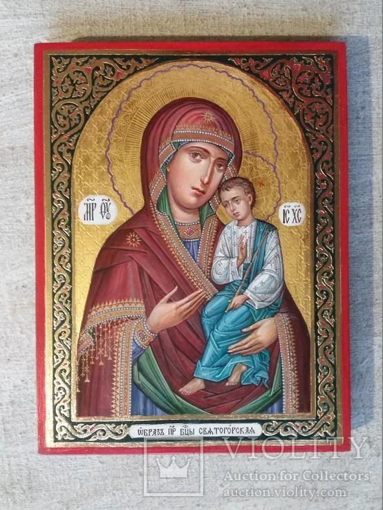 Икона Божией Матери «Святогорская» Богородица Святогорская.  Золотофонка., фото №2