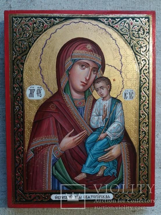 Икона Божией Матери «Святогорская» Богородица Святогорская.  Золотофонка., фото №3