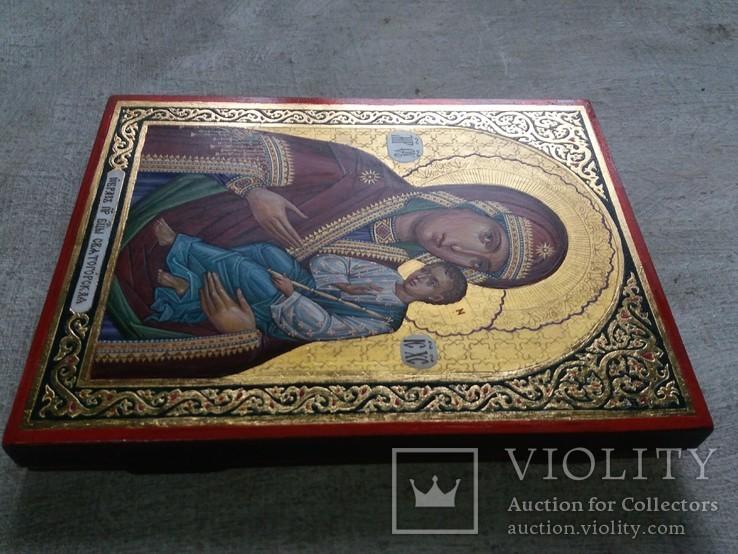 Икона Божией Матери «Святогорская» Богородица Святогорская.  Золотофонка., фото №5