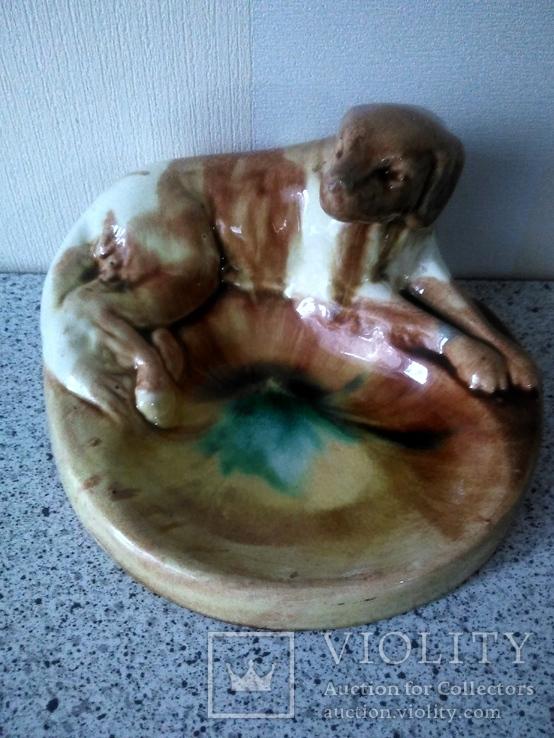 Пепельница с охотнечьей собакой 60-е, фото №12