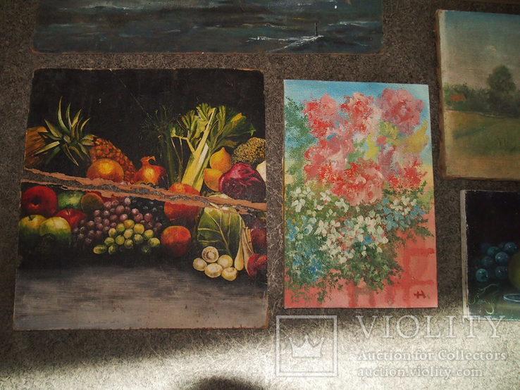 Картины, масло - двп. (6 картин), фото №7