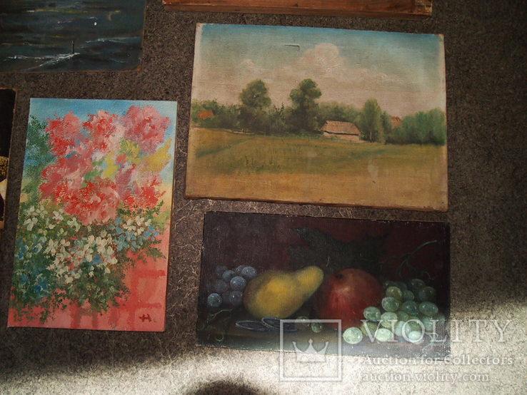 Картины, масло - двп. (6 картин), фото №8