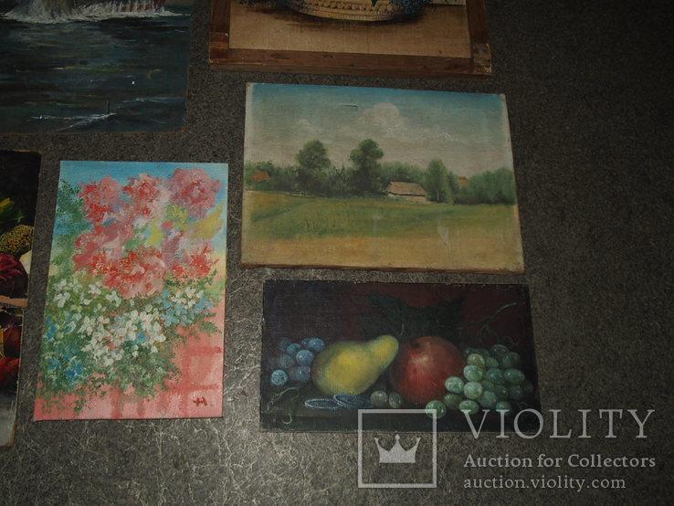 Картины, масло - двп. (6 картин), фото №10
