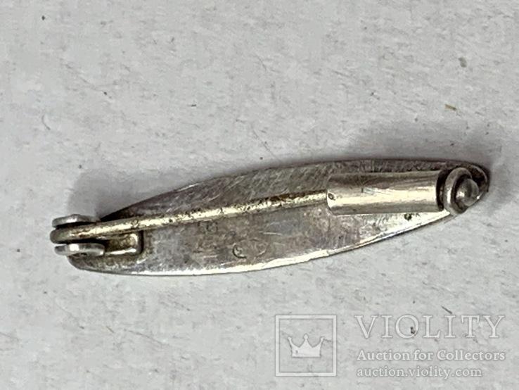 Винтажная серебряная брошь с Англии 835 проба, фото №4