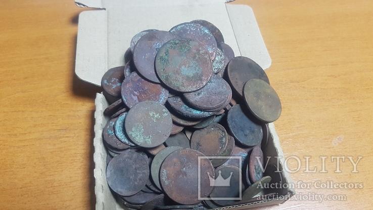 Монеты 143шт разных годов Царской Росси на опыты., фото №2