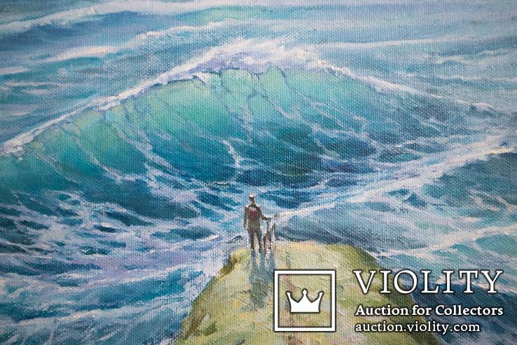 Море, будущее. 80х60 см. масло холст. Ю. Смаль, фото №5