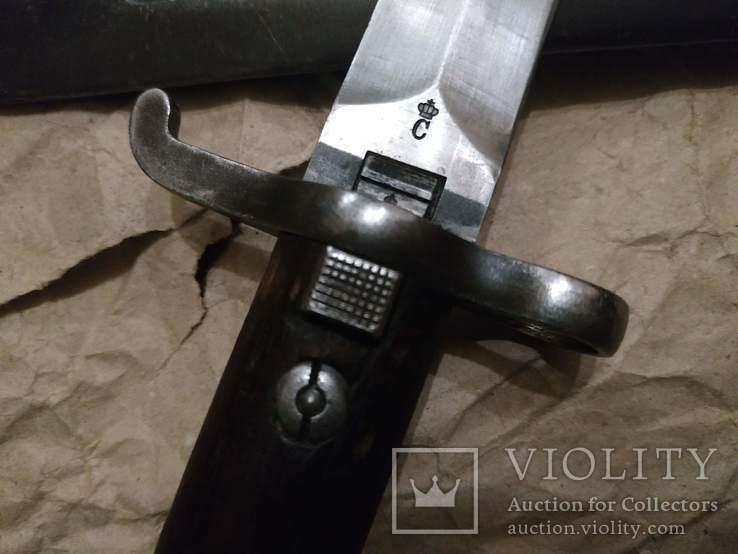 Штык-нож Шведский образца 1914 года. Карл Густав длинный, фото №6