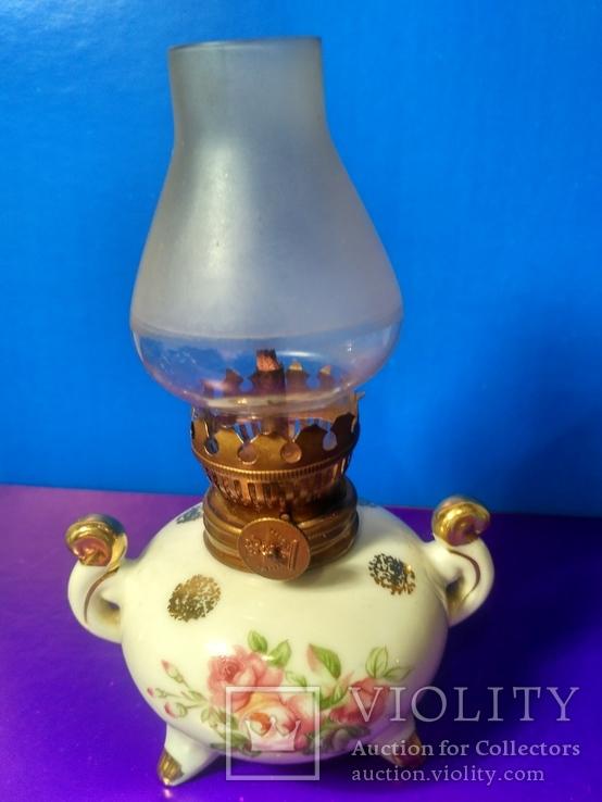 Миниатюрная керосиновая лампа. Клеймо Европа, фото №2