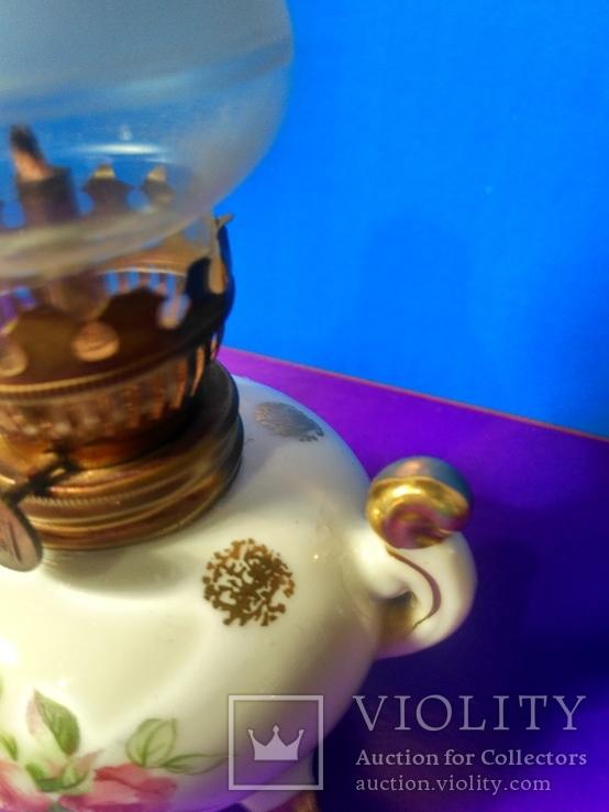 Миниатюрная керосиновая лампа. Клеймо Европа, фото №5