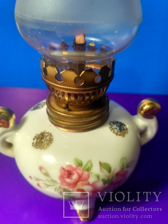 Миниатюрная керосиновая лампа. Клеймо Европа, фото №8