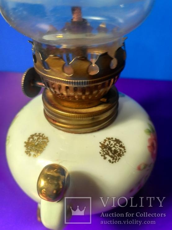 Миниатюрная керосиновая лампа. Клеймо Европа, фото №9