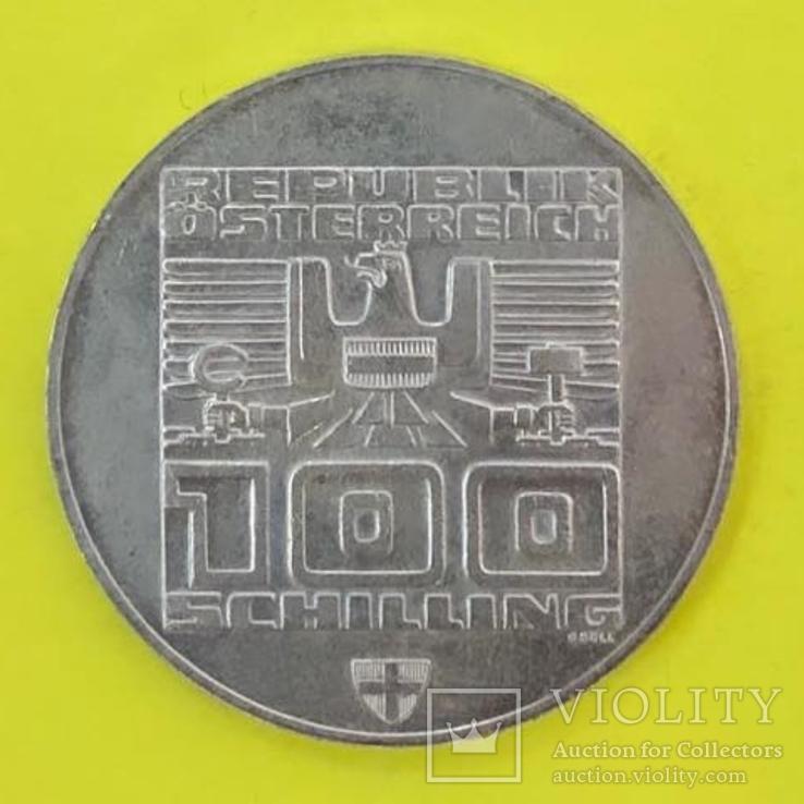 100 Шилінгів 1976р. Олімпіада. Срібло., фото №3