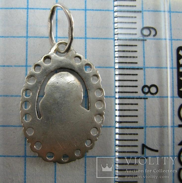 Новый Серебряная Иконка Кулон Пресвятая Богородица Казанская 925 проба Серебро 847, фото №4