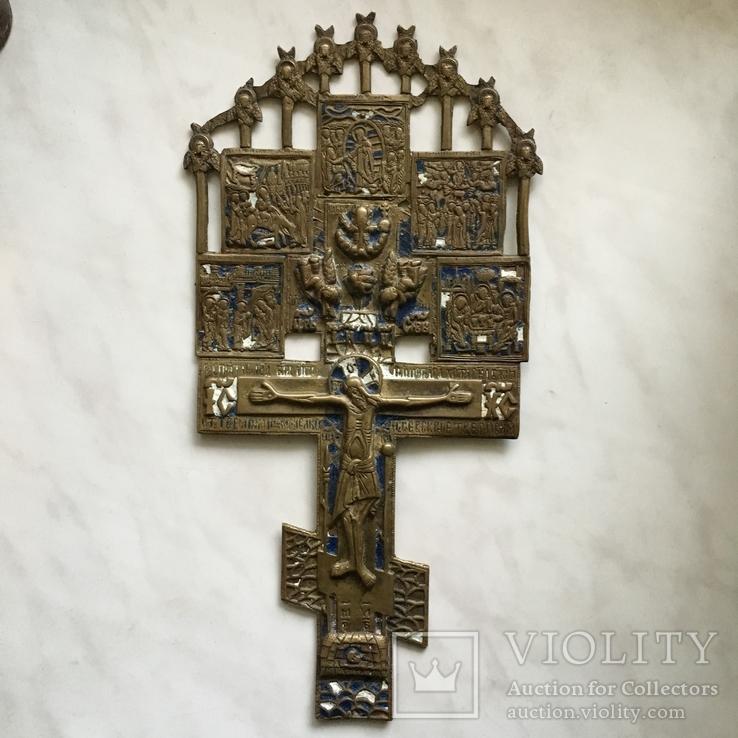 Большой крест с эмалями