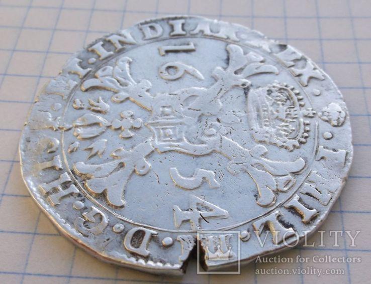 Талер Филиппа 4 го 1654 года герцогство Брабант Нідерланди, фото №6