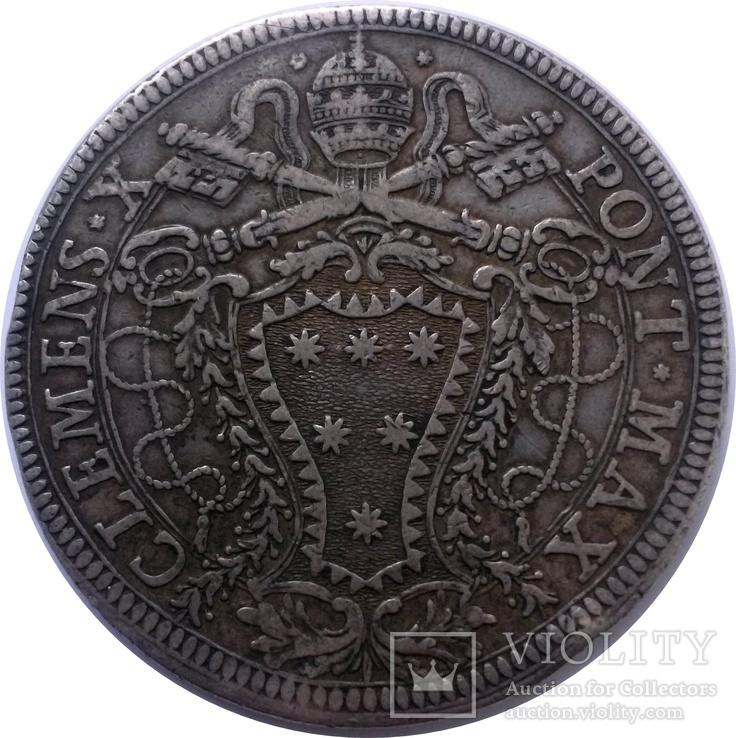 1 піастр 1675 Ватикан, Клеменс Х, фото №3