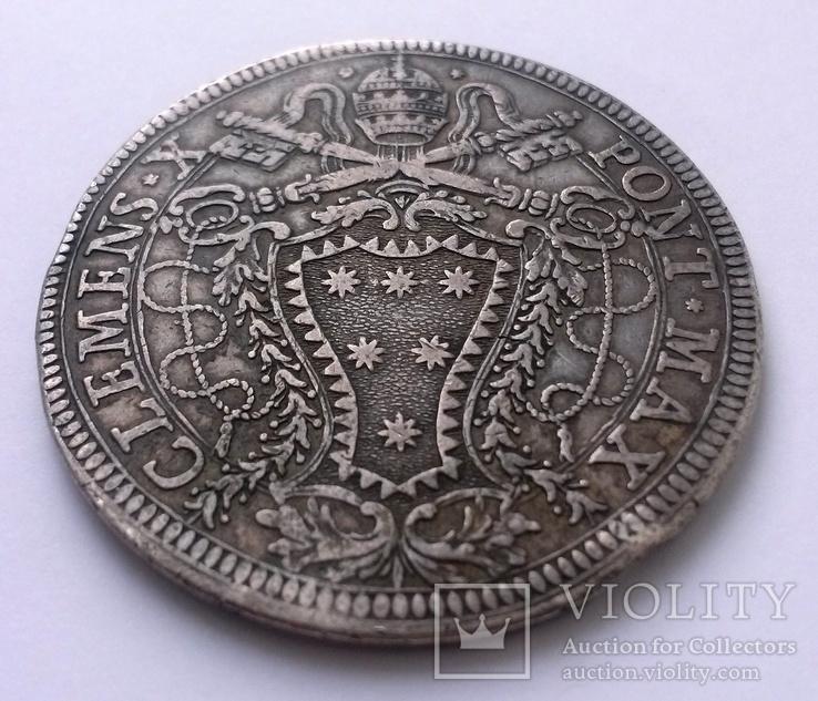 1 піастр 1675 Ватикан, Клеменс Х, фото №5