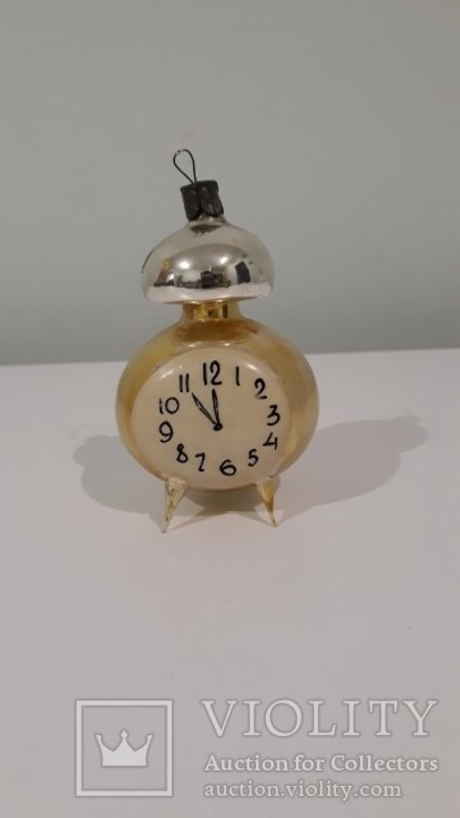 Елочная игрушка . Часы . Будильник ., фото №2