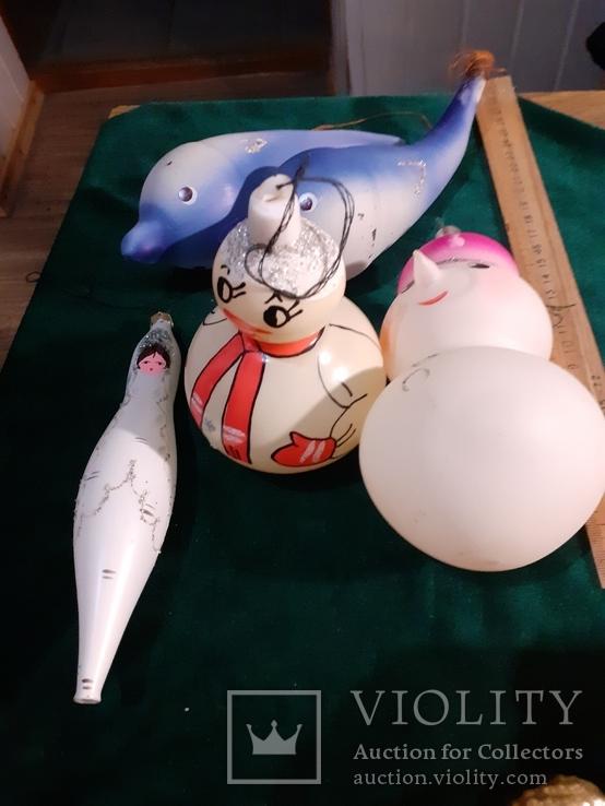 Елочные игрушки большие 5шт, фото №3