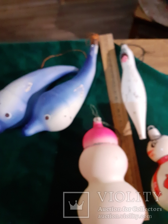 Елочные игрушки большие 5шт, фото №5