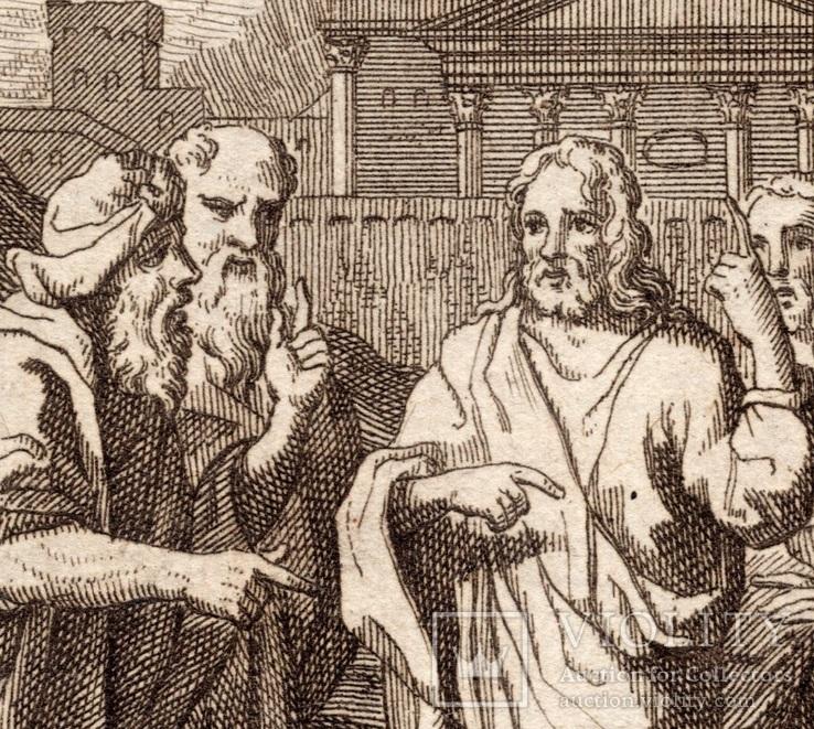 Старинная гравюра. Религиозная тематика. (11,2х8,3см.)., фото №3