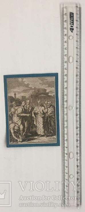 Старинная гравюра. Религиозная тематика. (11,2х8,3см.)., фото №4